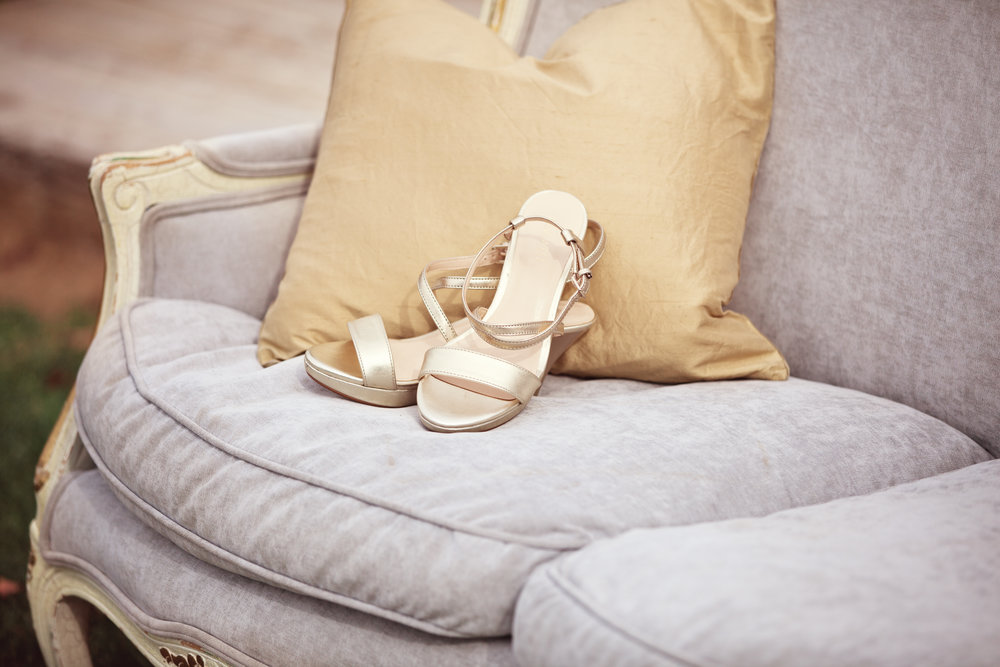 www.santabarbarawedding.com | Kay Mitchell Photography | The Dana-Powers House | Bride's Shoes
