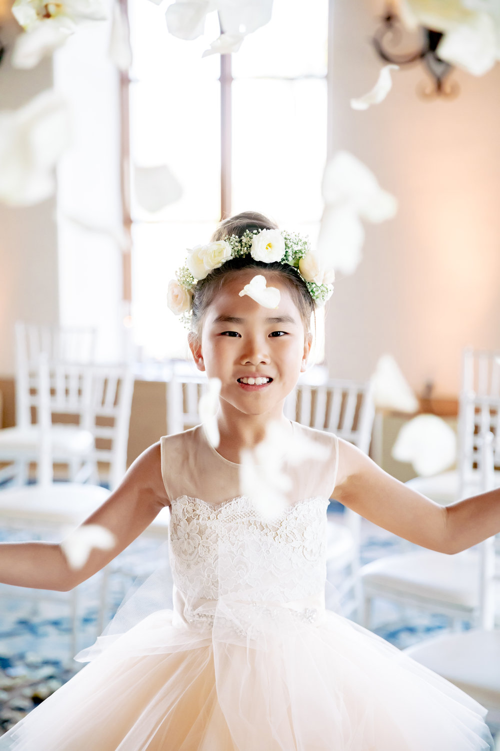 www.santabarbarawedding.com | Rewind Photography | The Ritz Carlton Bacara | Amazing Days Events | Flower Girl