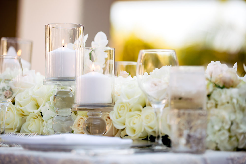 www.santabarbarawedding.com | Rewind Photography | The Ritz Carlton Bacara | Amazing Days Events | Reception Table Details