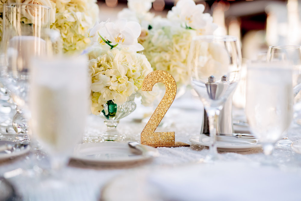 www.santabarbarawedding.com | Rewind Photography | The Ritz Carlton Bacara | Amazing Days Events | Reception Table Numbers
