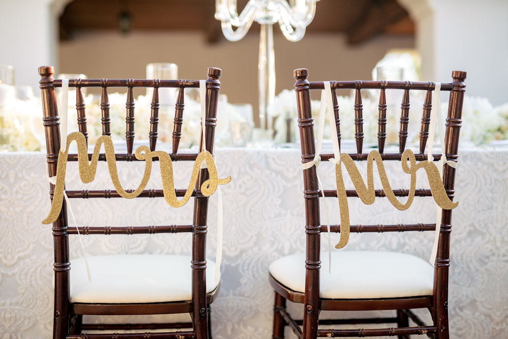 www.santabarbarawedding.com | Rewind Photography | The Ritz Carlton Bacara | Amazing Days Events | Bride and Groom Chairs