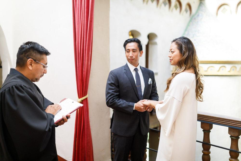 www.santabarbarawedding.com | Kiel Rucker | Santa Barbara Courthouse | Bride and Groom | Ceremony