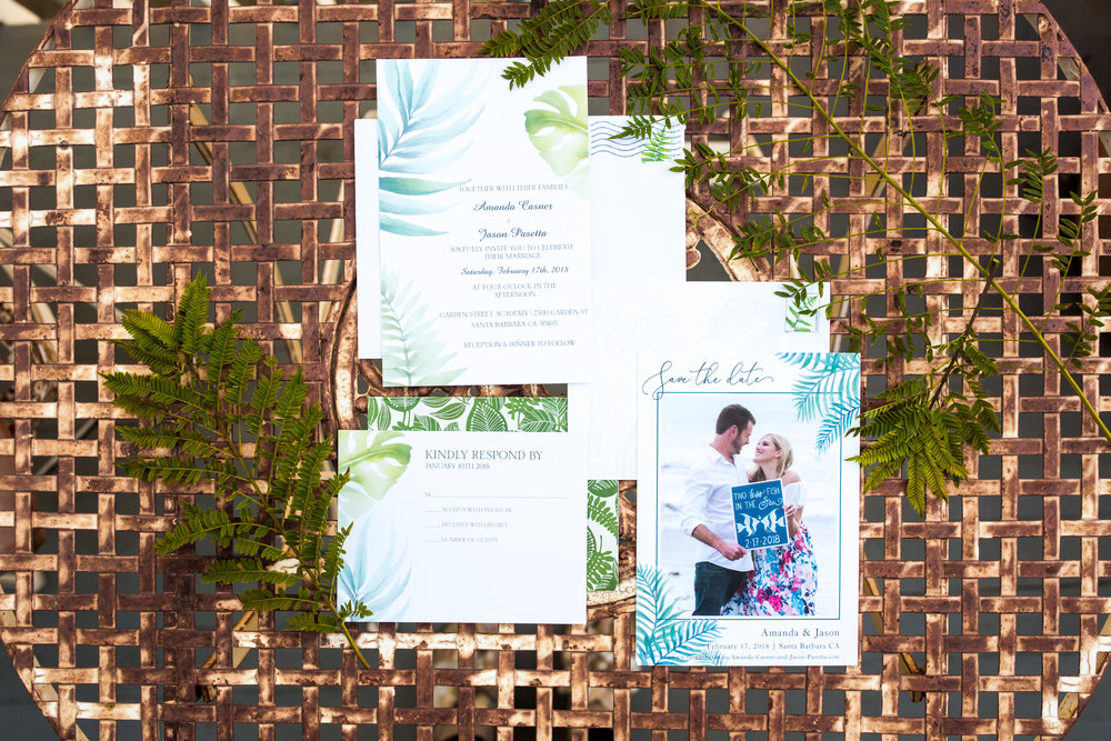 www.santabarbarawedding.com | Elizabeth Victoria Photo | Garden Street Academy | Wedding Invitations