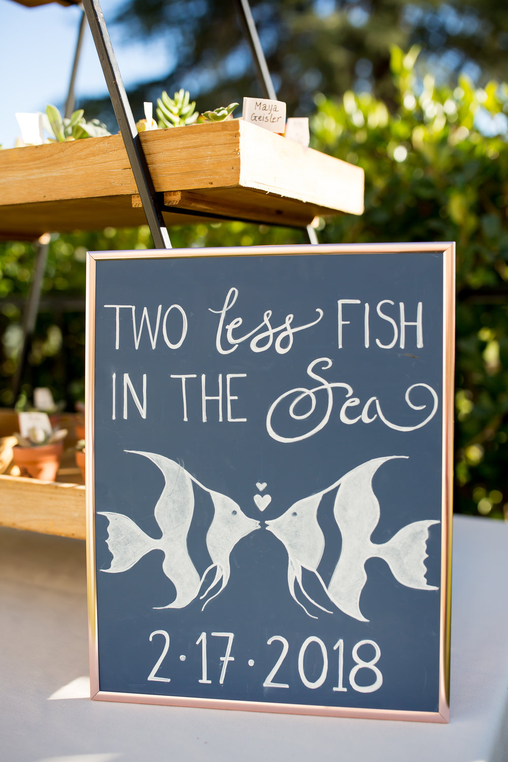 www.santabarbarawedding.com | Elizabeth Victoria Photo | Garden Street Academy | Wedding Sign