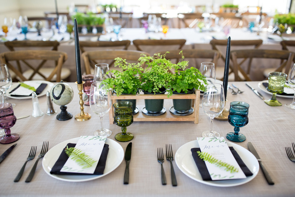 www.santabarbarawedding.com | Elizabeth Victoria Photo | Garden Street Academy | Reception Place Settings