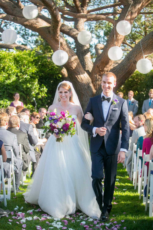 www.santabarbarawedding.com | Philip Van Nostrand | Riviera Mansion | Bride and Groom after Ceremony