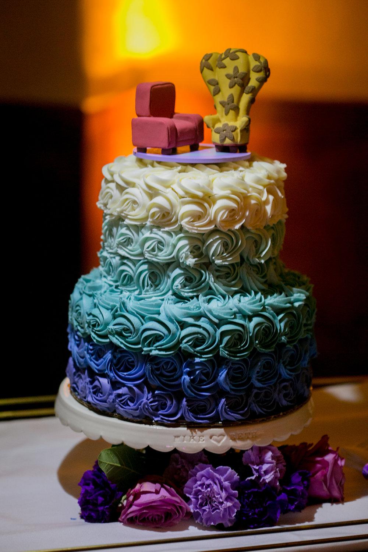 www.santabarbarawedding.com | Philip Van Nostrand | Riviera Mansion | Wedding Cake