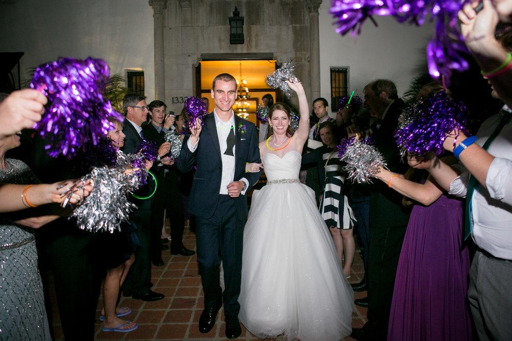 www.santabarbarawedding.com | Philip Van Nostrand | Riviera Mansion | Bride and Groom Exit
