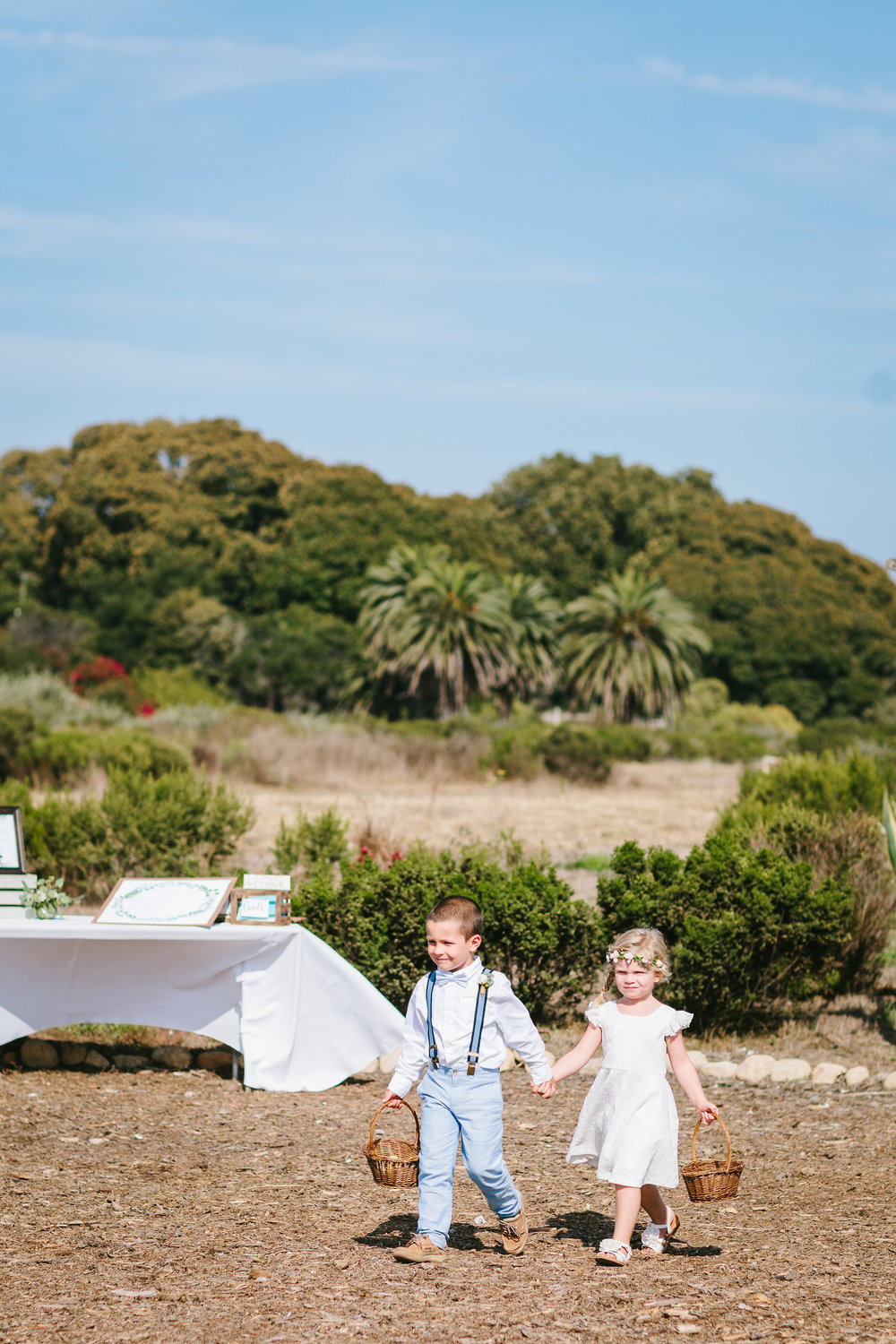 www.santabarbarawedding.com | Jodee Debes | Dos Pueblos Orchid Farm | Flower Girl and Ring Bearer