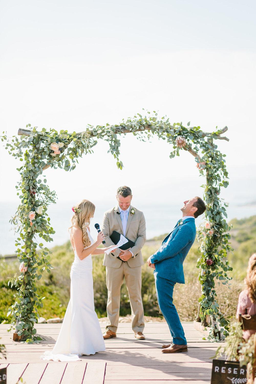 www.santabarbarawedding.com | Jodee Debes | Dos Pueblos Orchid Farm | Ceremony | Bride and Groom