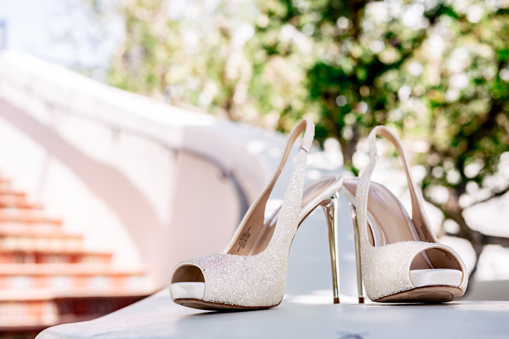 www.santabarbarawedding.com | Bacara Resort | Rewind Photography | Elegant Sofreh Design | Bride's Shoes