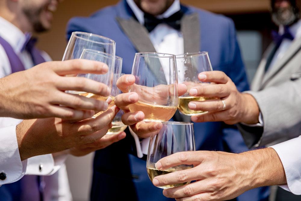 www.santabarbarawedding.com | Bacara Resort | Rewind Photography | Elegant Sofreh Design | Groomsmen's toast