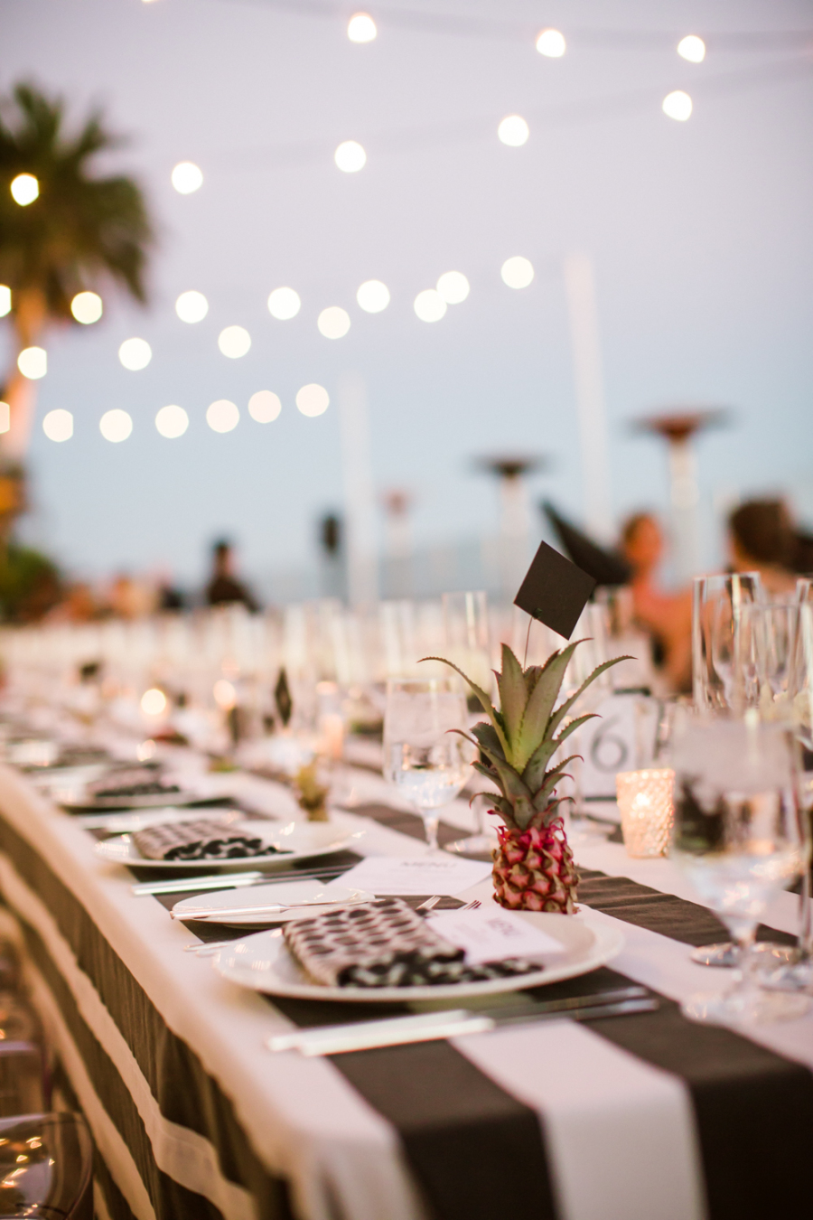 www.santabarbarawedding.com | Ann Johnson Events | Jessica Lewis | The Biltmore | Reception Tables