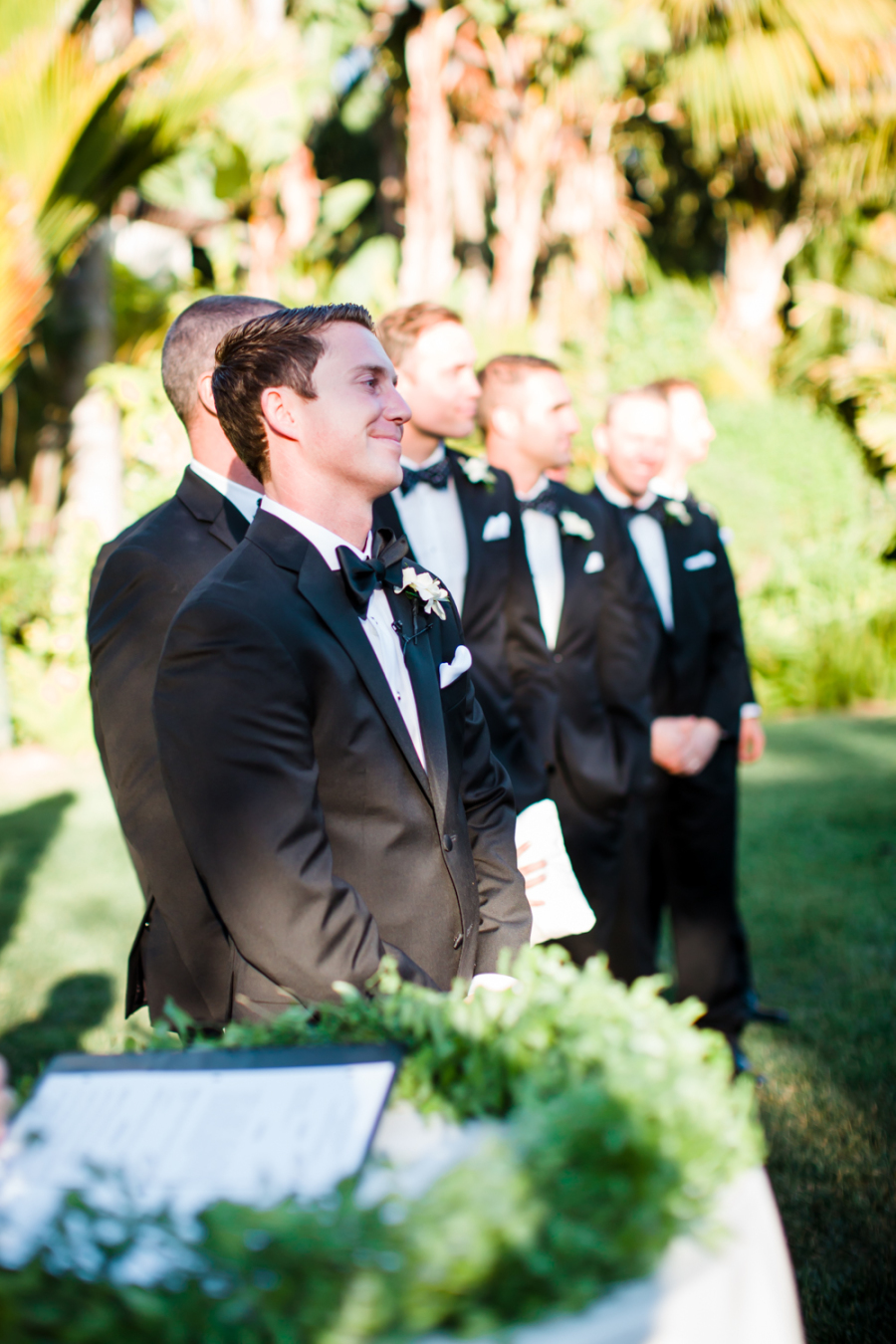 www.santabarbarawedding.com | Ann Johnson Events | Jessica Lewis | The Biltmore | Groom at Ceremony