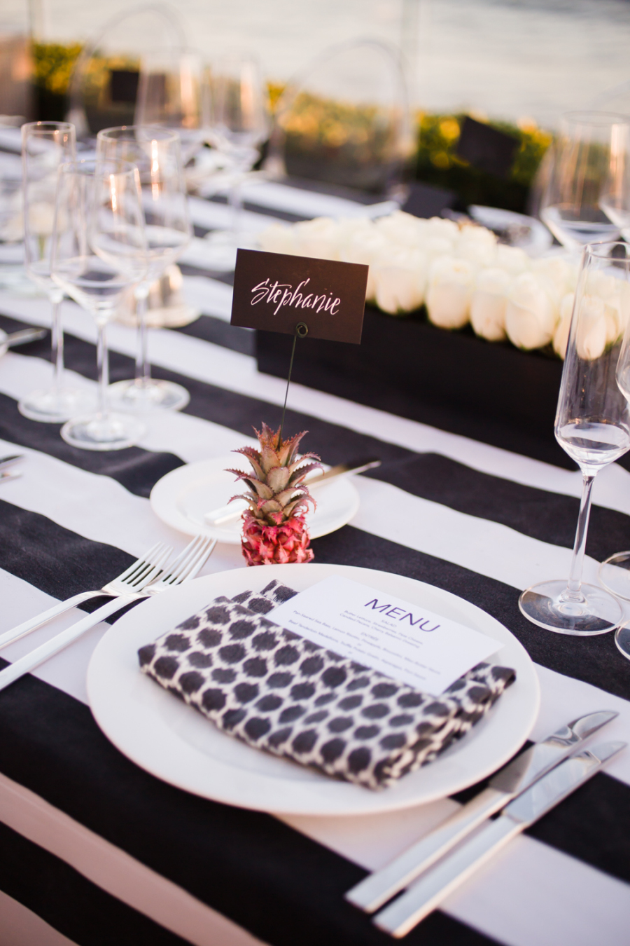 www.santabarbarawedding.com | Ann Johnson Events | Jessica Lewis | The Biltmore | Place Setting