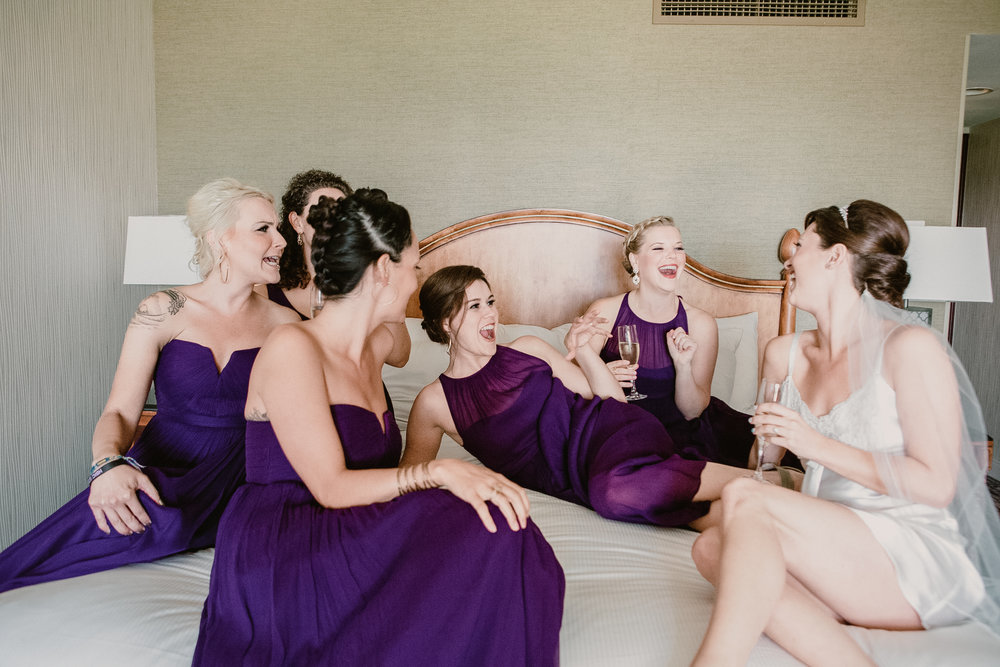 www.santabarbarawedding.com | Clarissa Koenig | Felici Events | Hilton Santa Barbara Beachfront Resort | Bridesmaids