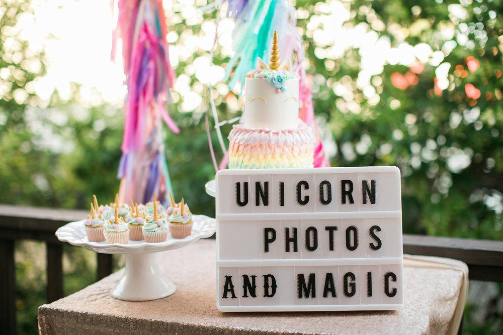 Unicorn Piñata Party Kelsey Crews Photo