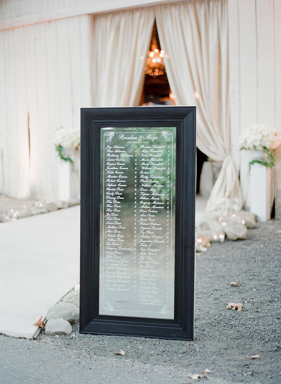 www.santabarbarawedding.com | Dos Pueblos Ranch | Soigne Productions | Lacie Hansen | Table Seating Chart