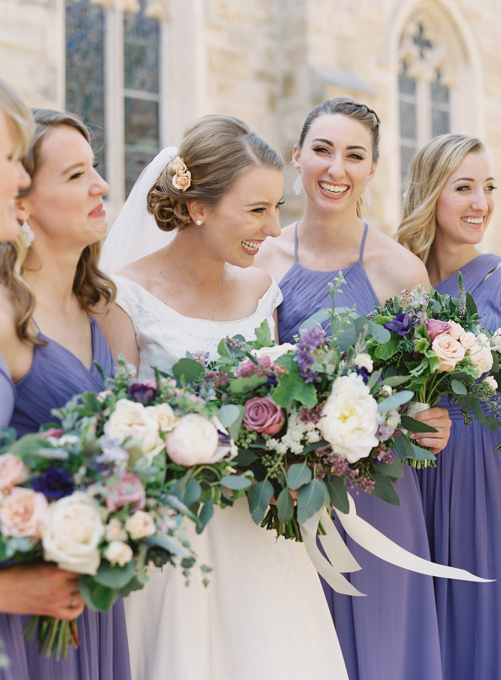 www.santabarbarawedding.com | Trinity Episcopal Church | Elings Park | Sarah Weir | Burlap & Bordeaux | Bridesmaids