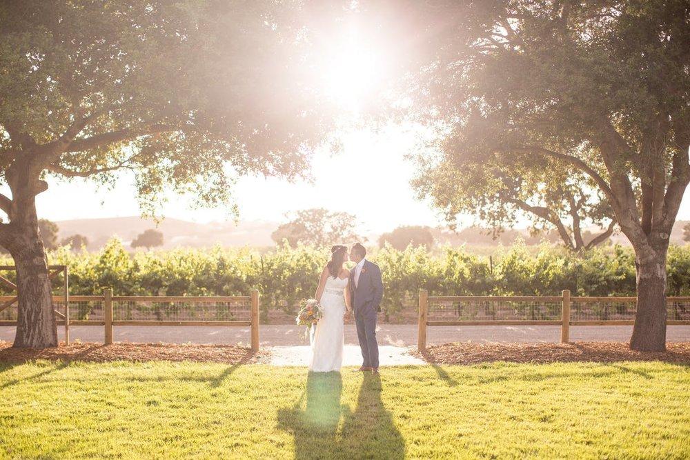 www.santabarbarawedding.com | Anna J Photography | Alegria by Design | Firestone Vineyard | Bride and Groom