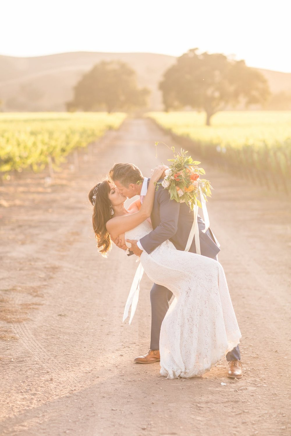 www.santabarbarawedding.com | Anna J Photography | Alegria by Design | Firestone Vineyard | Bride and Groom