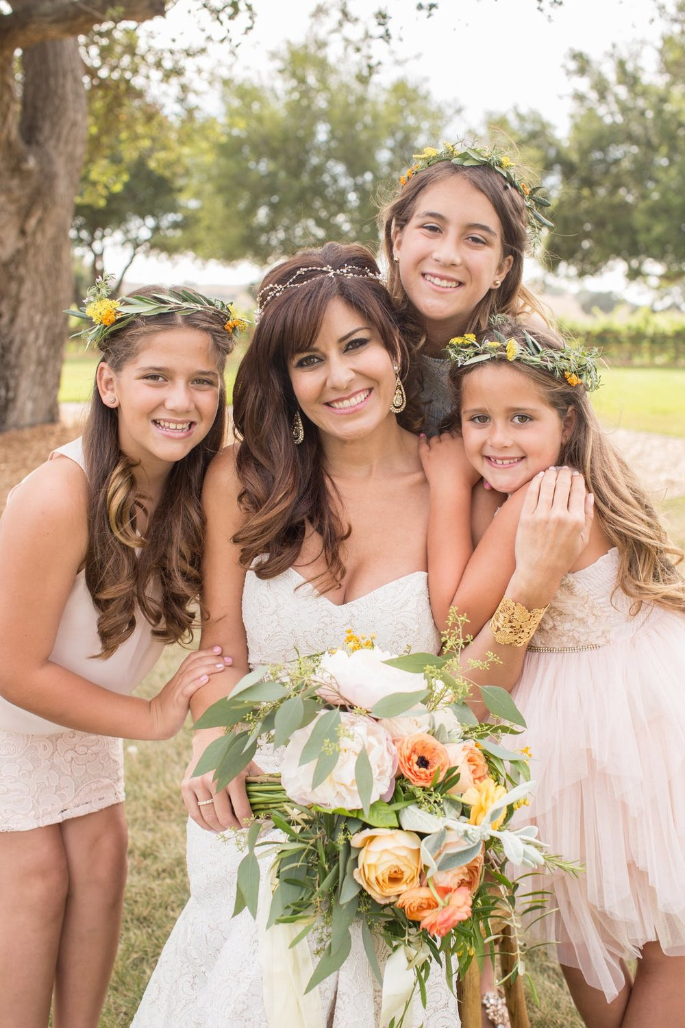 www.santabarbarawedding.com | Anna J Photography | Alegria by Design | Firestone Vineyard | Bride and Daughters