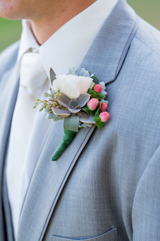 www.santabarbarawedding.com | Camarillo Ranch House | Joshua Rainey | Boutonniere