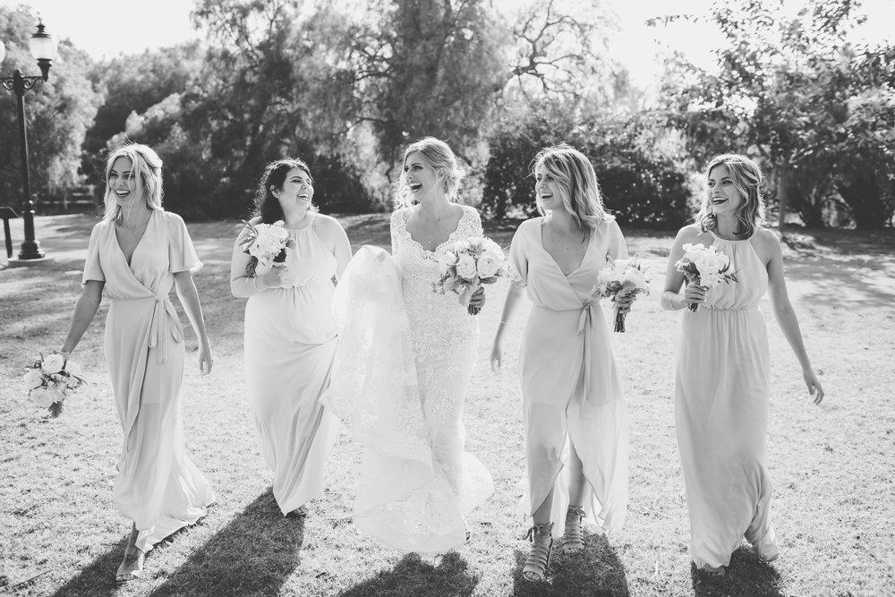 www.santabarbarawedding.com | Camarillo Ranch House | Joshua Rainey | Bridesmaids