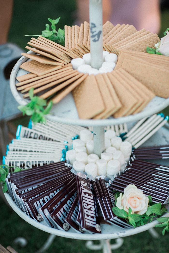 www.santabarbarawedding.com | Crossroads Estate | Michael and Anna Costa | Soigne Productions | Smores Bar