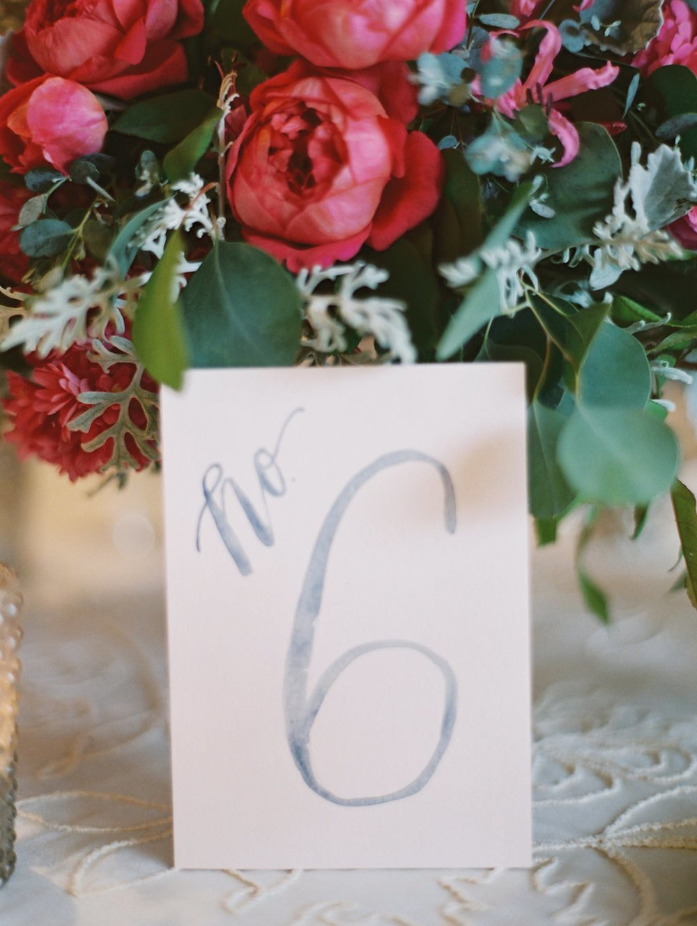 www.santabarbarawedding.com | El Encanto | Coco Rose Design | This Modern Romance | Reception Table Number