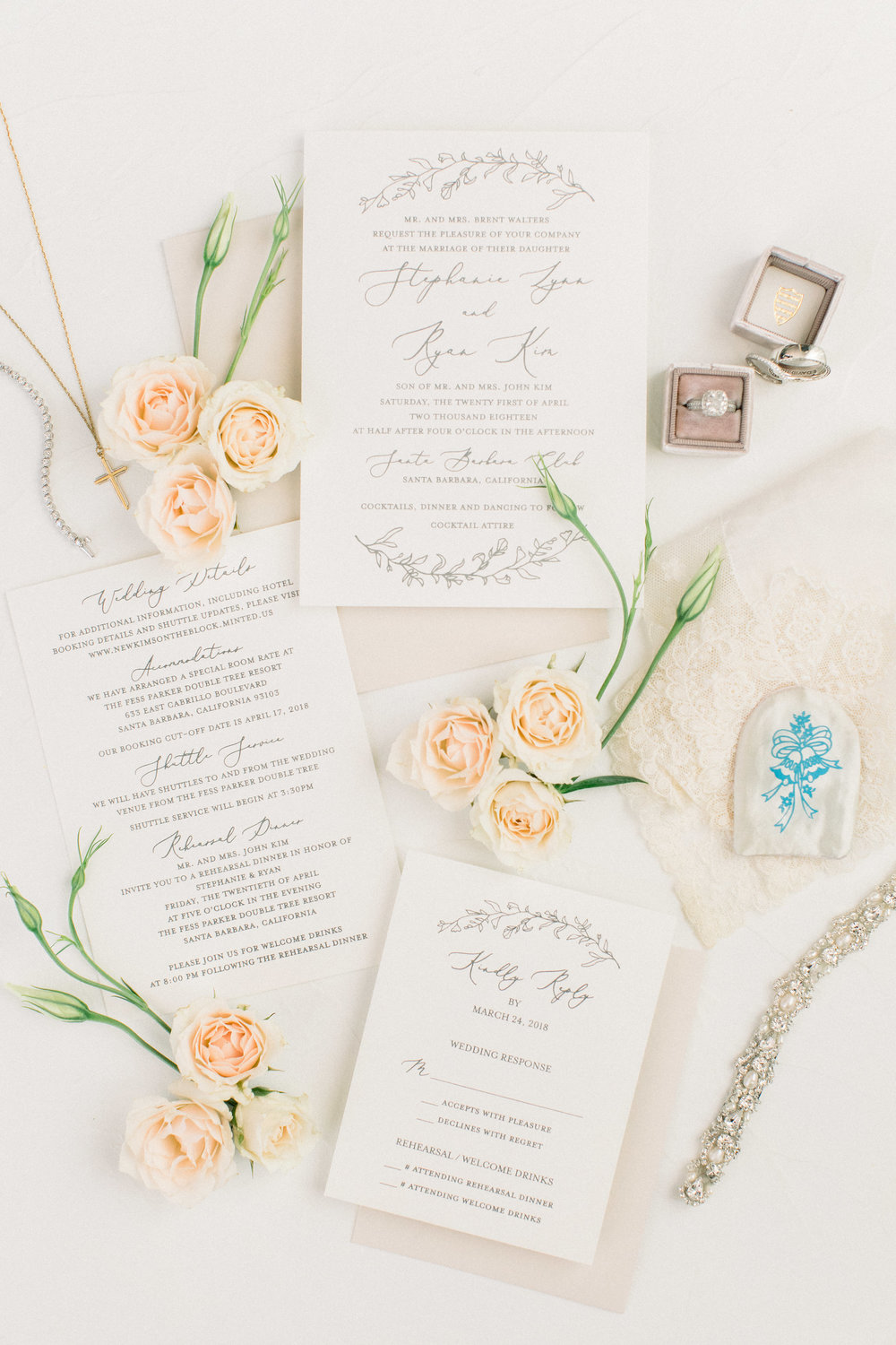 www.santabarbarawedding.com | Jenny Quicksall | Santa Barbara Club | Bluebell Events | Wedding Invitations