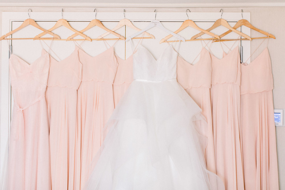 www.santabarbarawedding.com | Jenny Quicksall | Santa Barbara Club | Bluebell Events | Bridesmaid Dresses and Wedding Gown