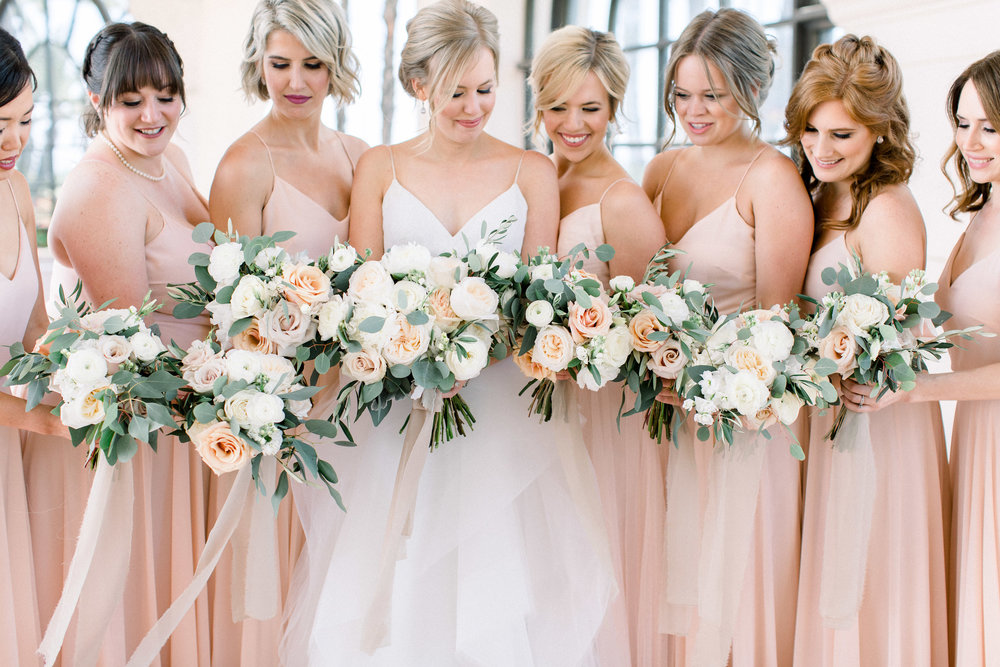 www.santabarbarawedding.com | Jenny Quicksall | Santa Barbara Club | Bluebell Events | Bride and Bridesmaids