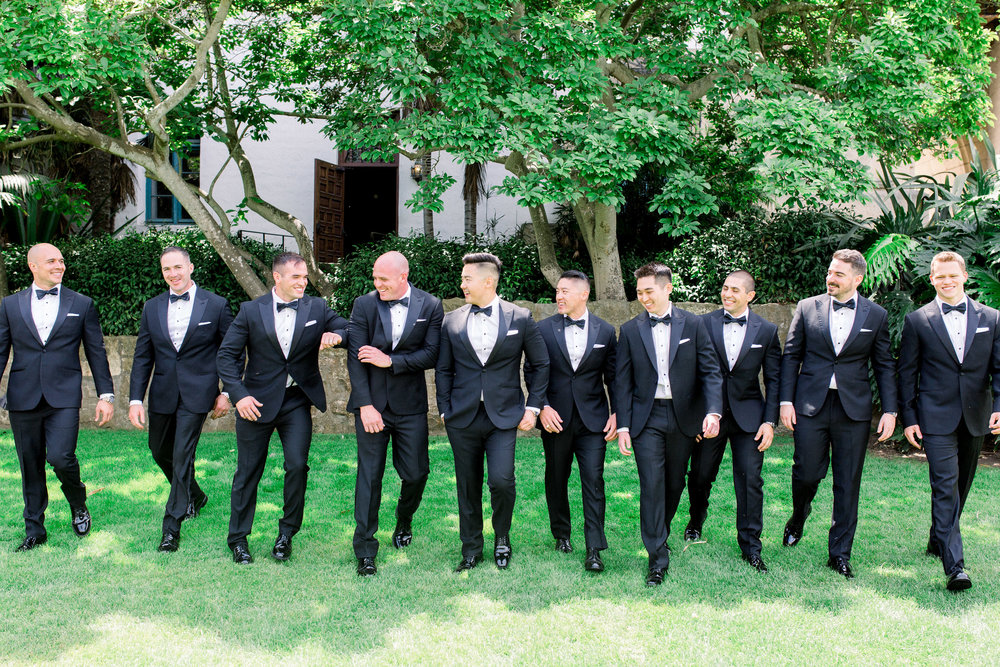 www.santabarbarawedding.com | Jenny Quicksall | Santa Barbara Club | Bluebell Events | Groom and Groomsmen