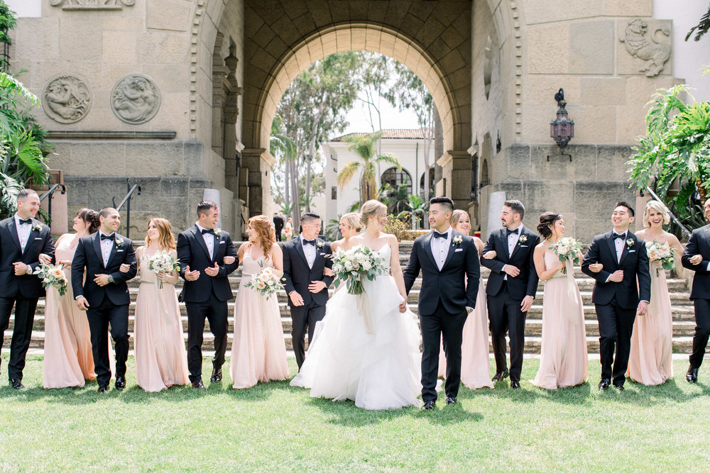 www.santabarbarawedding.com | Jenny Quicksall | Santa Barbara Club | Bluebell Events | Bridal Party
