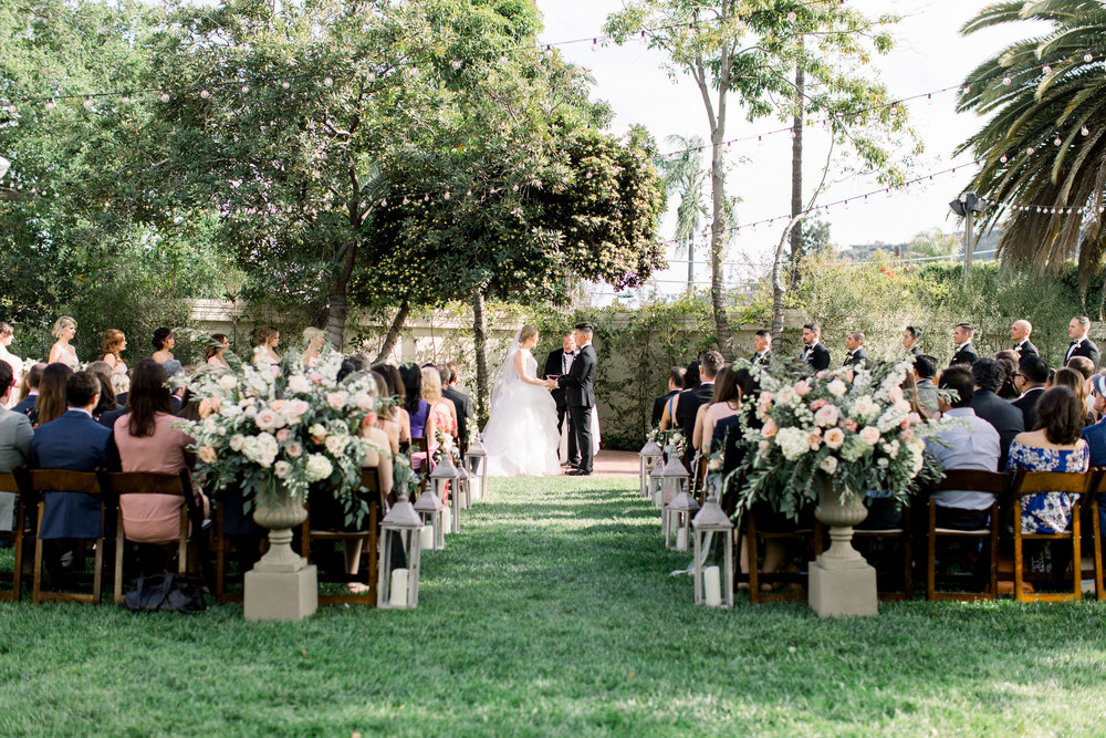 www.santabarbarawedding.com | Jenny Quicksall | Santa Barbara Club | Bluebell Events | Ceremony