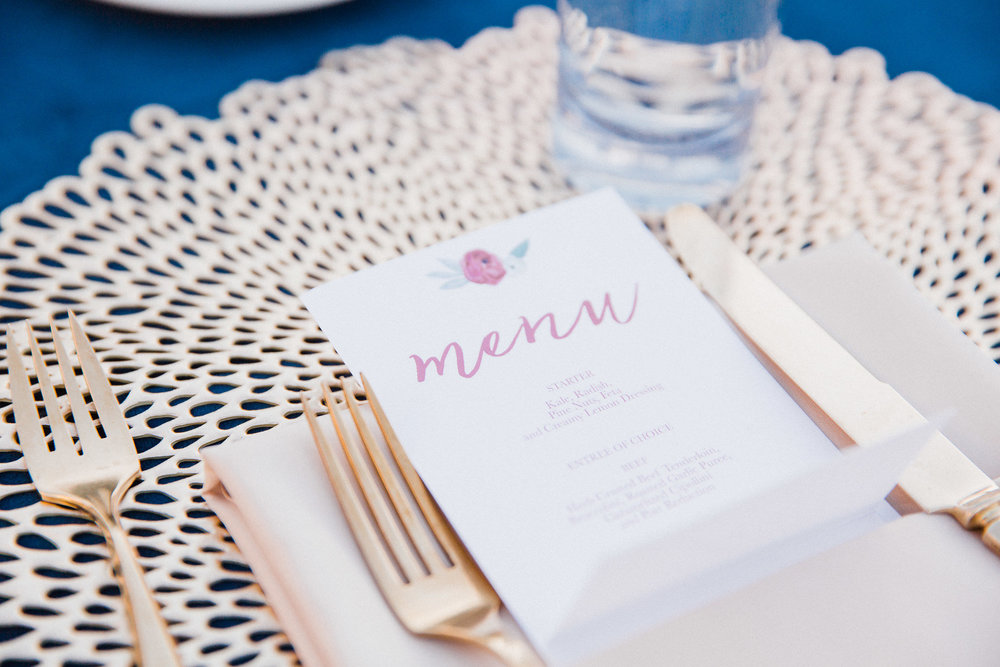 www.santabarbarawedding.com | Grace Kathryn Photography | Santa Barbara Courthouse | Canary Hotel | Amazing Days Events | Reception Place Setting