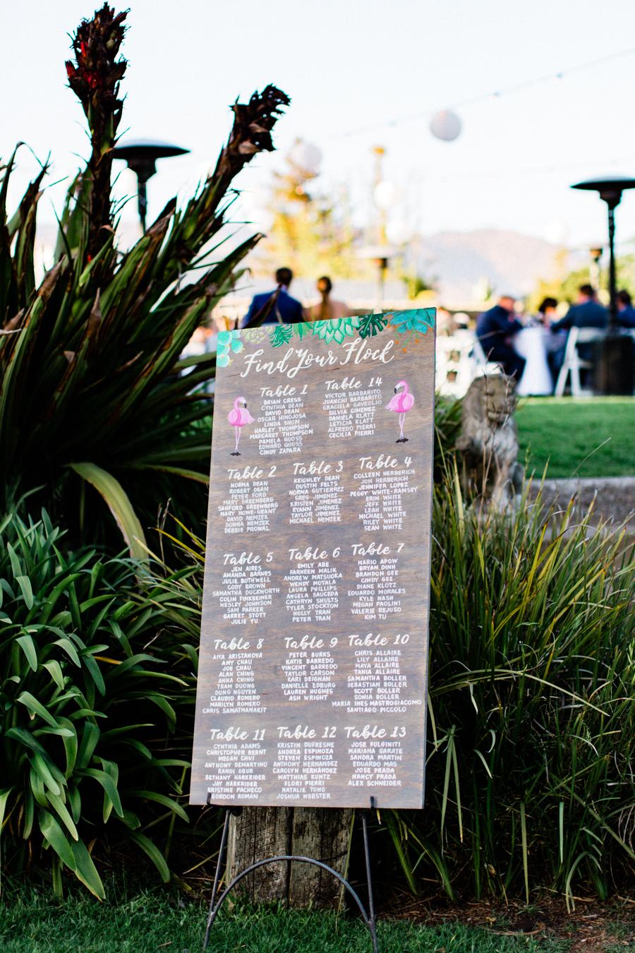 www.santabarbarawedding.com | Laura Ford Photos | Santa Barbara Zoo | Rincon Events | Reception Seating Chart