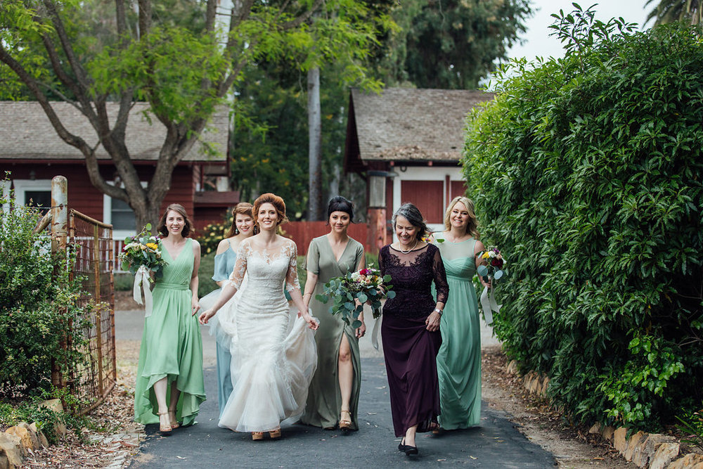 www.santabarbarawedding.com | Just Kiss Collective | Rancho La Patera & Stow House | Bridesmaids