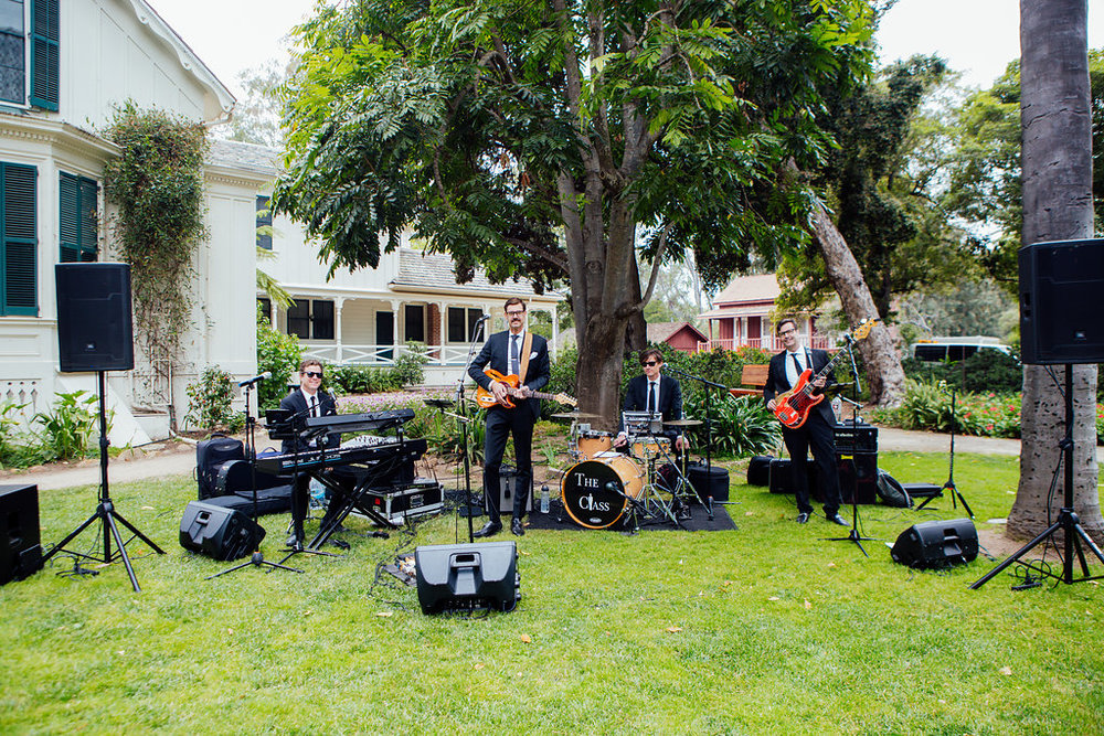 www.santabarbarawedding.com | Just Kiss Collective | Rancho La Patera & Stow House | Wedding Band