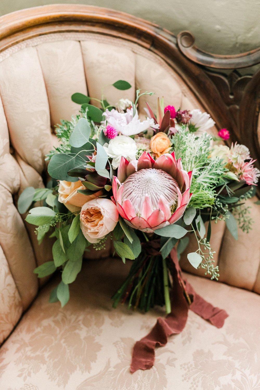 www.santabarbarawedding.com   Anna Delores   Santa Barbara Historical Museum   Bridal Bouquet