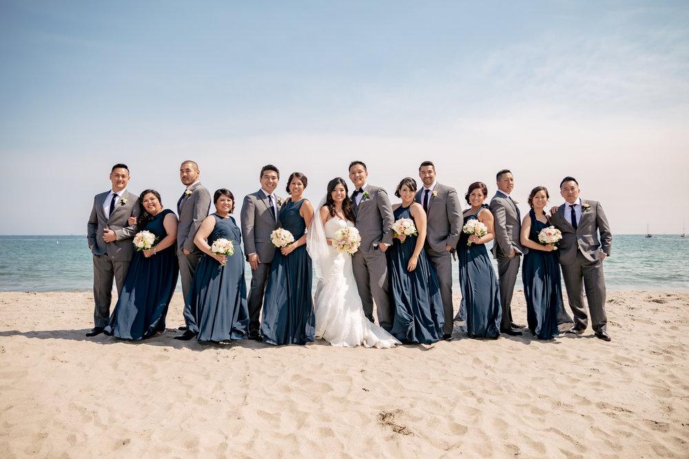 www.santabarbaraweddingstyle.com | Rewind Photography | Events by M and M | Hilton Santa Barbara | Bridal Party