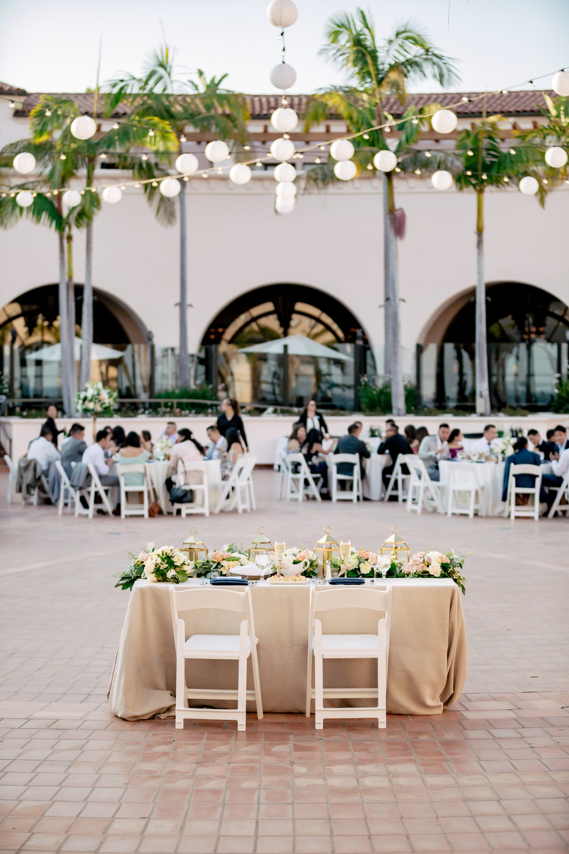 www.santabarbaraweddingstyle.com | Rewind Photography | Events by M and M | Hilton Santa Barbara | Head Table