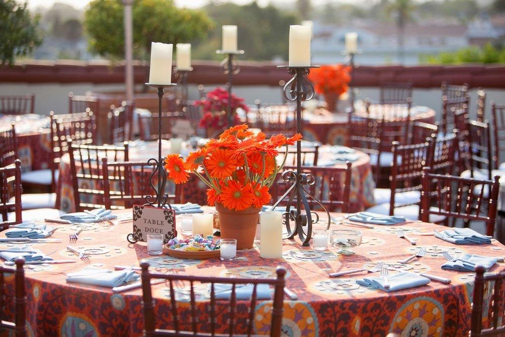 www.santabarbarawedding.com | www.FeliciEvents.com | www.TimHalberg.com | www.canarysantabarbara.com | Louloudi Design | Tim Halberg | Felici Events | Canary Hotel | Spanish Style Rooftop Wedding