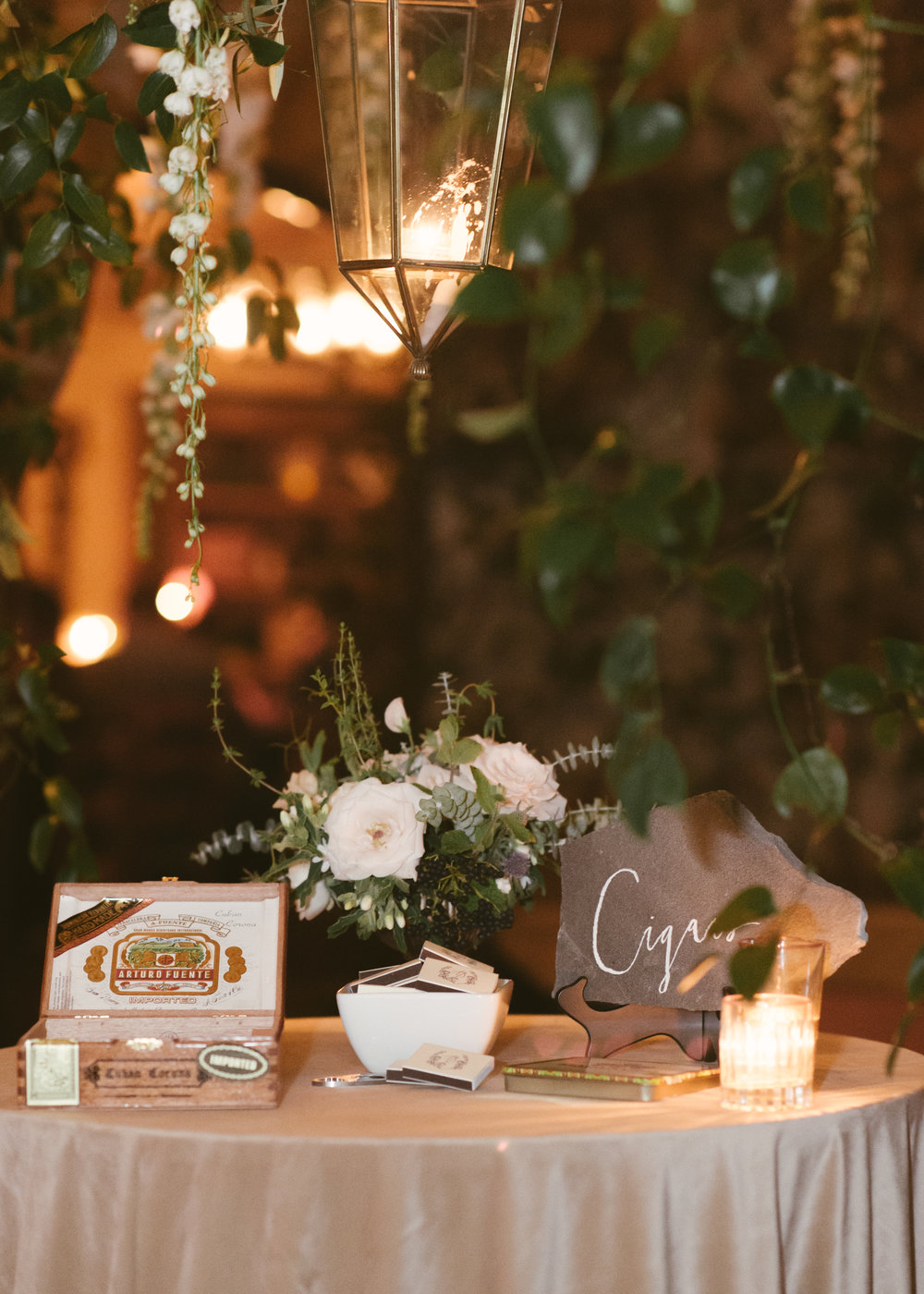 www.santabarbarawedding.com | Event of the Season | Norman and Blake | San Ysidro Ranch | Cigar Table