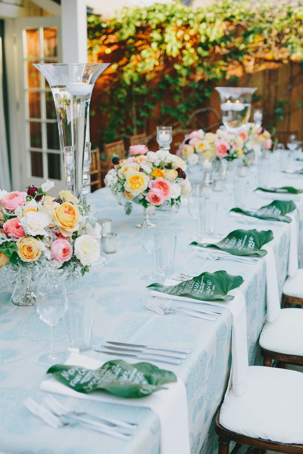 www.santabarbarawedding.com | San Ysidro Ranch | Alegria by Design | Jake + Necia Photography | Reception Table