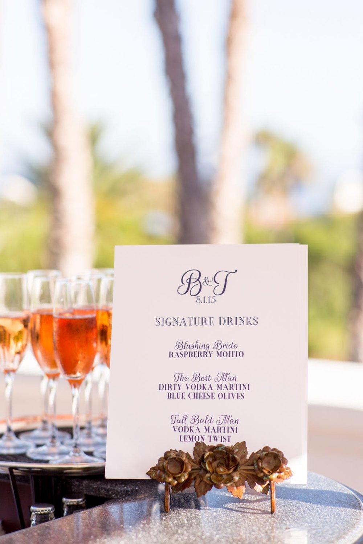 www.santabarbarawedding.com | Bacara Resort | Alegria by Design | Michael + Anna Costa | Signature Cocktails