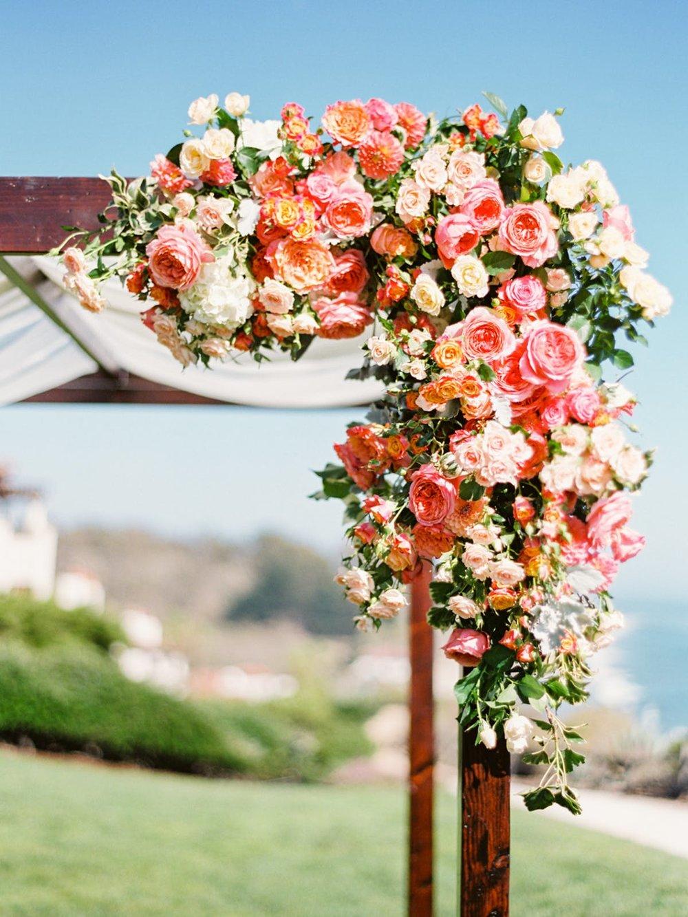 www.santabarbarawedding.com | Bacara Resort | Alegria by Design | Michael + Anna Costa | Wedding Arch
