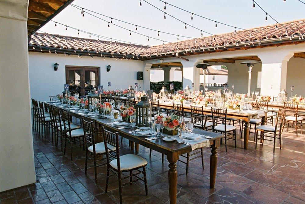 www.santabarbarawedding.com | Bacara Resort | Alegria by Design | Michael + Anna Costa | Reception Tables