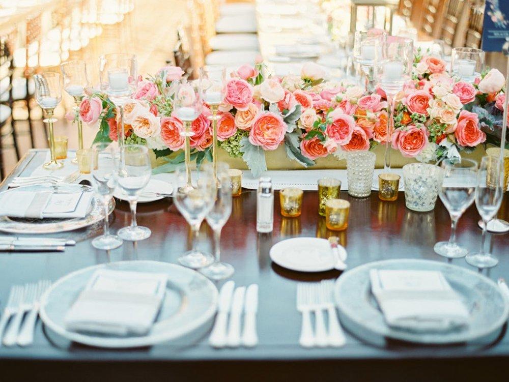 www.santabarbarawedding.com | Bacara Resort | Alegria by Design | Michael + Anna Costa | Reception Table